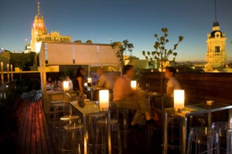 Terraza del Hotel de las Letras en la Gran Via de Madrid